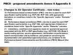 pbcs proposed amendments annex 6 appendix 61