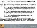 pbcs proposed amendments annex 6 chapter 7