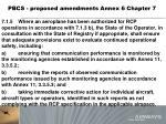 pbcs proposed amendments annex 6 chapter 71