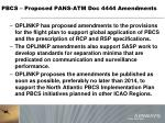 pbcs proposed pans atm doc 4444 amendments