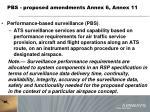 pbs proposed amendments annex 6 annex 11