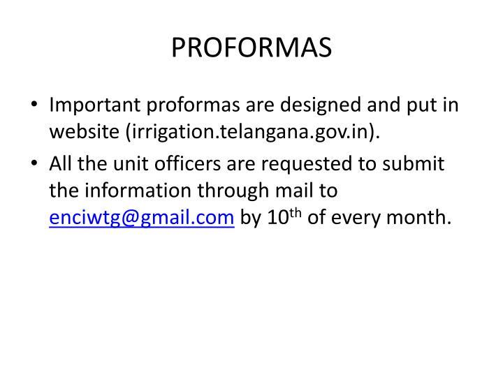 PROFORMAS