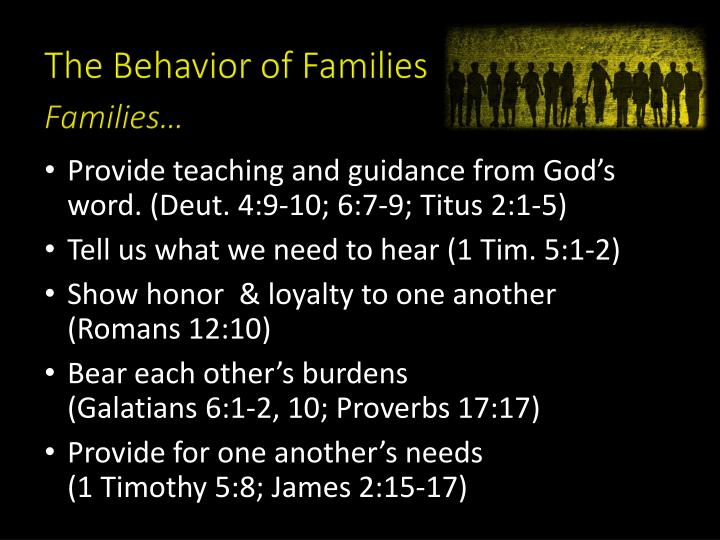 The Behavior of Families