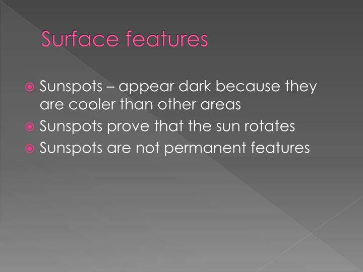 Surface features