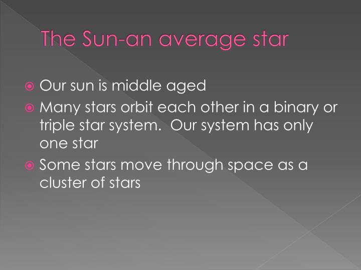 The Sun-an average star