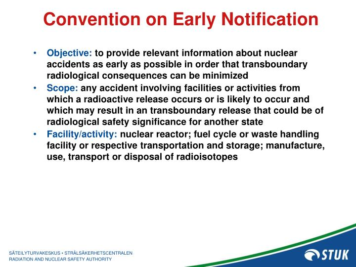 Convention on Early Notification