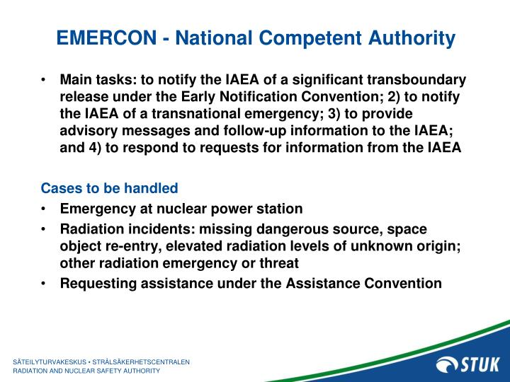 EMERCON - National Competent Authority