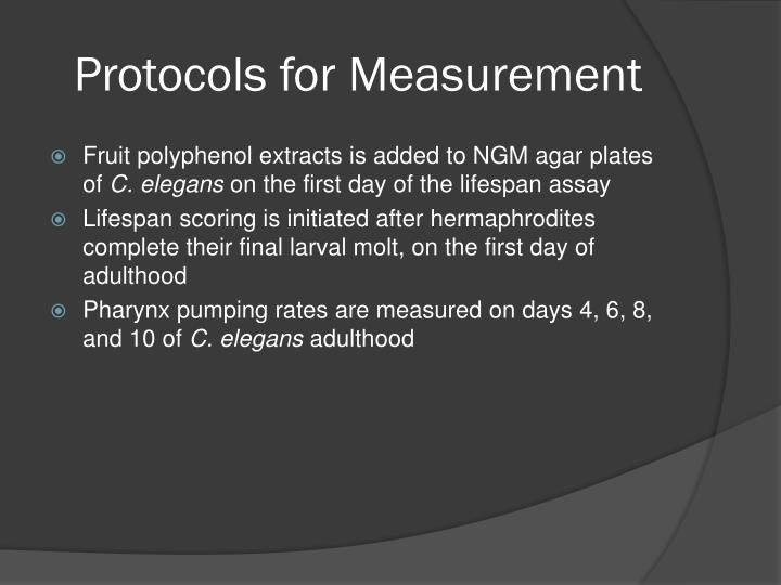 Protocols for Measurement