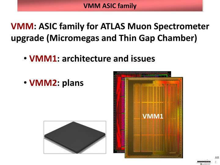 VMM ASIC family