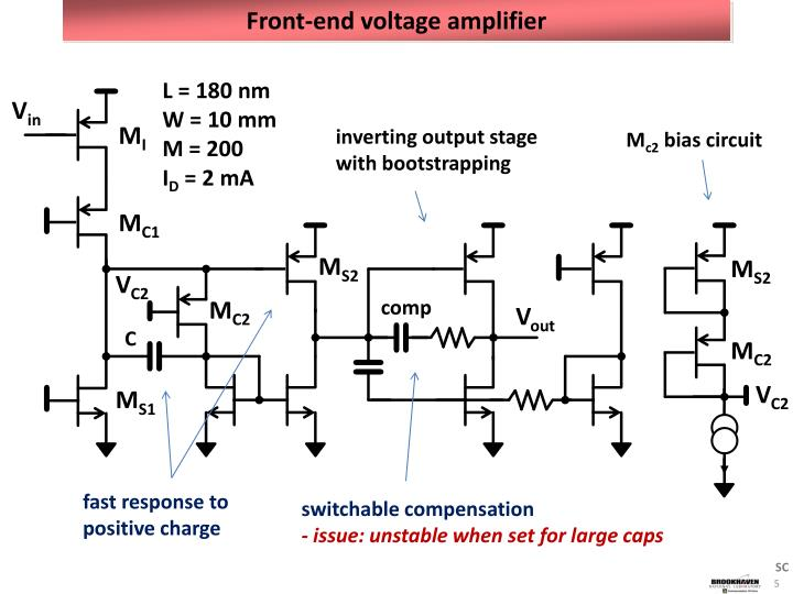 Front-end voltage amplifier