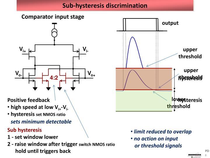 Sub-hysteresis discrimination