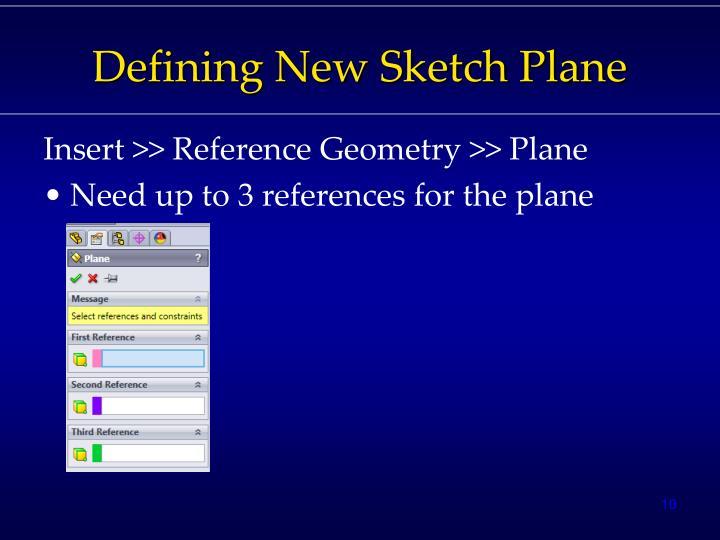 Defining New Sketch Plane