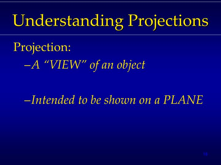 Understanding Projections