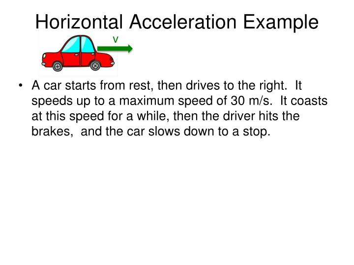 Horizontal Acceleration Example