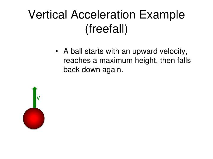 Vertical Acceleration Example (freefall)