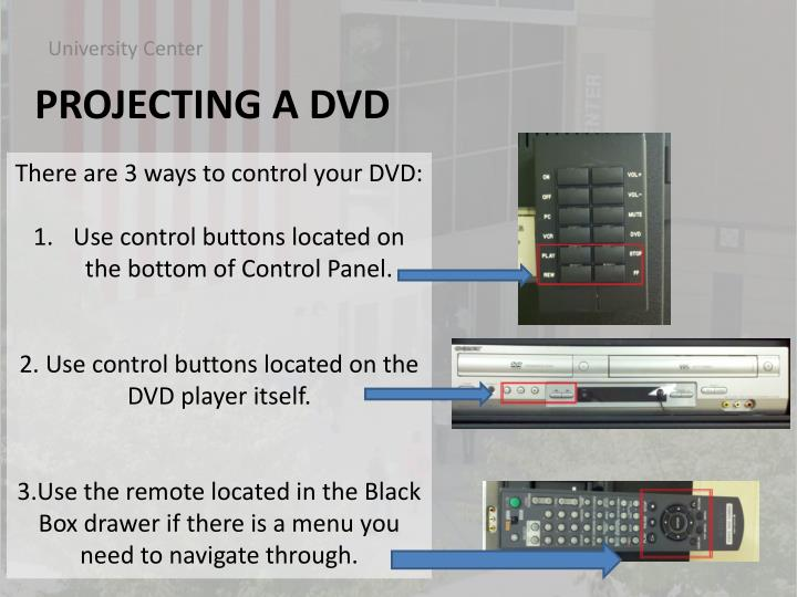 There are 3 ways to control your DVD: