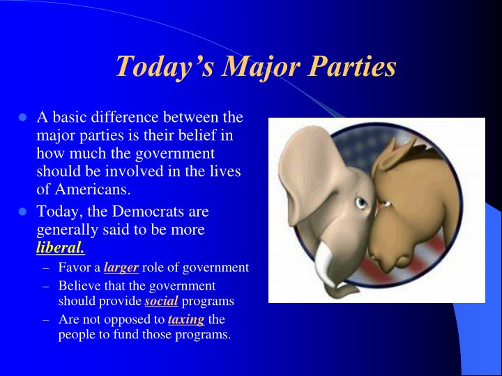 Today's Major Parties