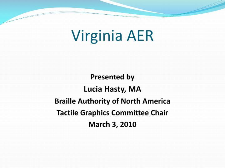 Virginia AER