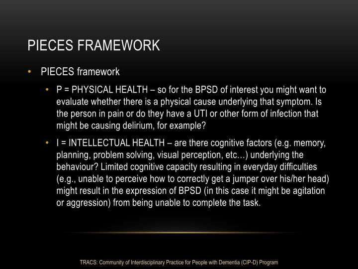 Pieces framework