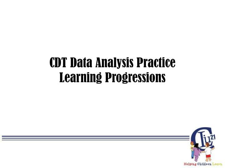 CDT Data Analysis Practice