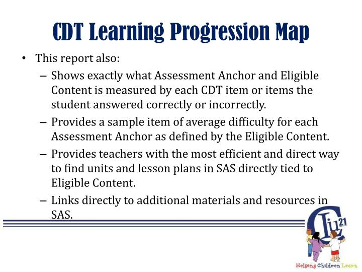 CDT Learning Progression Map