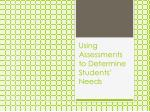 using assessments to determine students needs