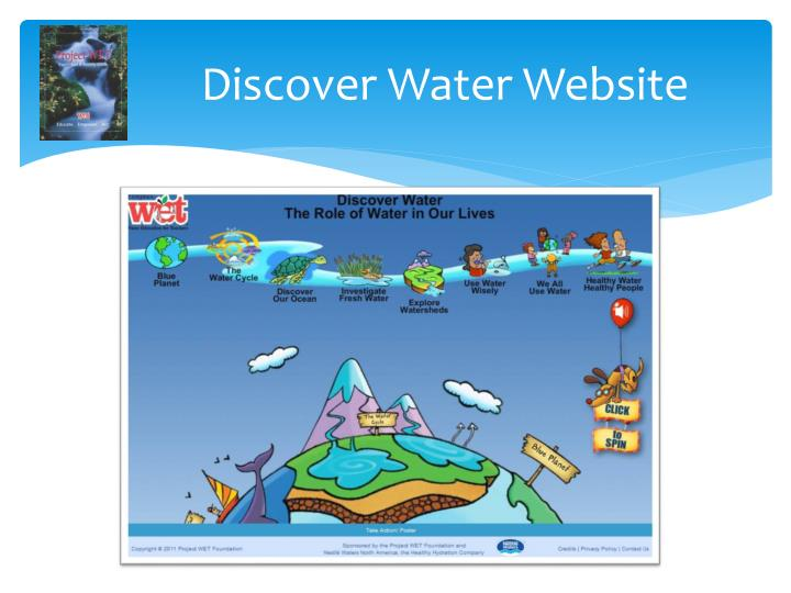 Discover Water Website