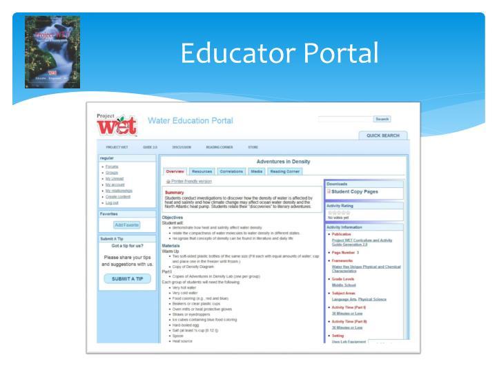 Educator Portal