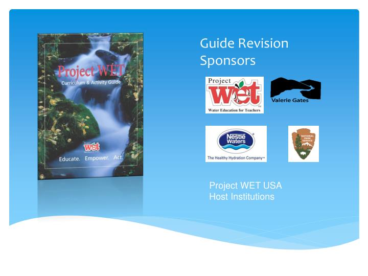 Guide Revision Sponsors