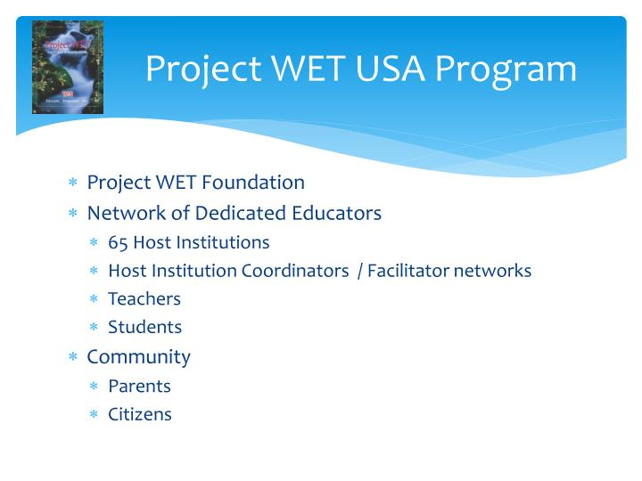 Project WET USA Program