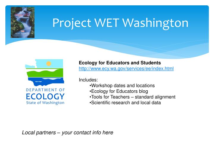 Project WET Washington