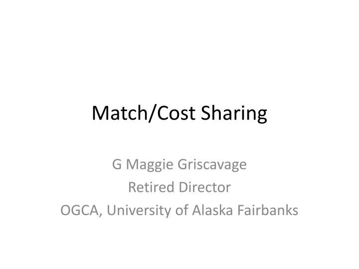 Match cost sharing