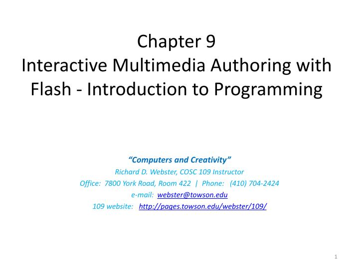introduction to interactive multimedia
