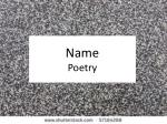 name poetry