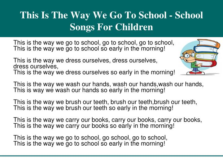 This is the way we go to school school songs for children