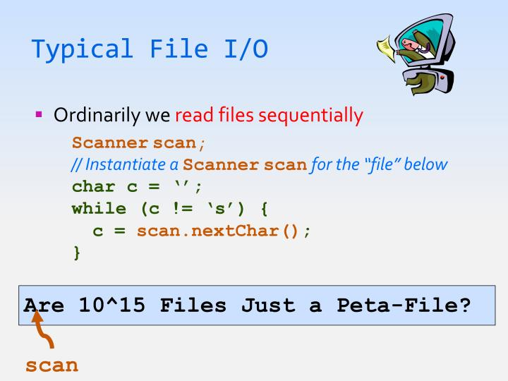 Typical File I/O