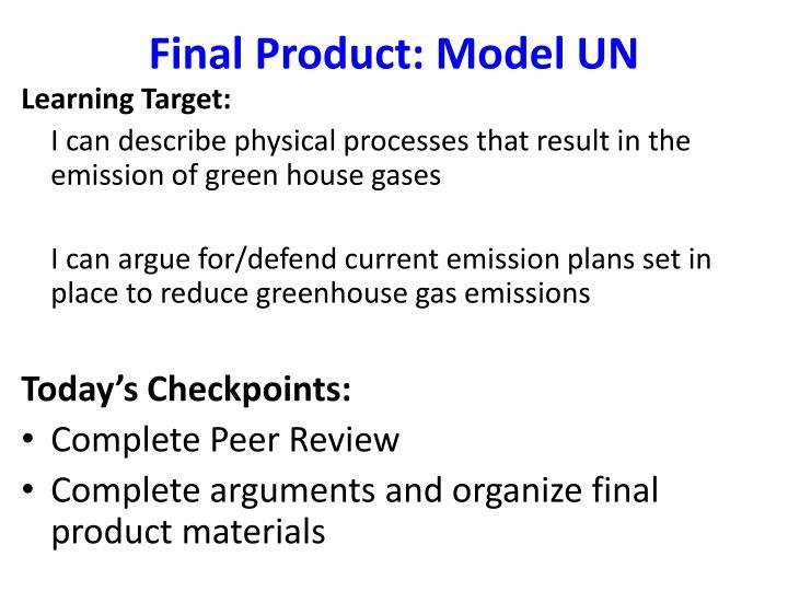 Final Product: Model UN