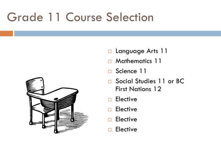 Grade 11 Course