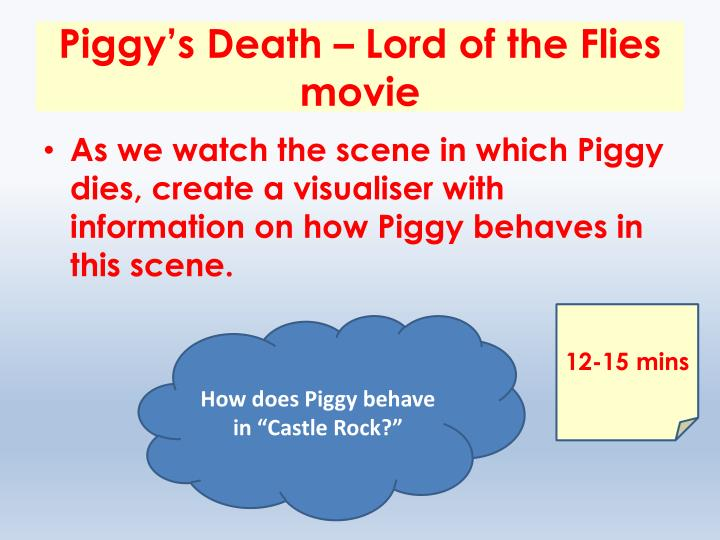 Piggy's Death – Lord of the Flies movie
