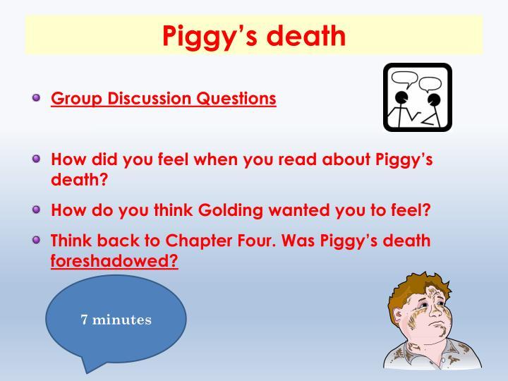 Piggy's death