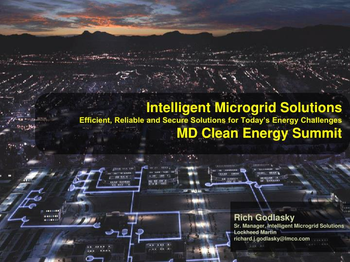 Intelligent Microgrid Solutions