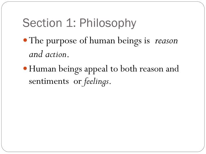 Section 1: Philosophy