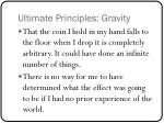 ultimate principles gravity