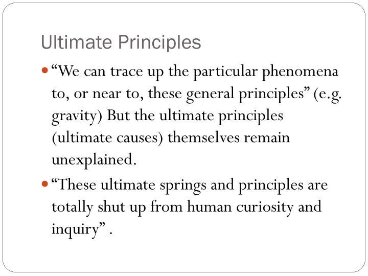 Ultimate Principles