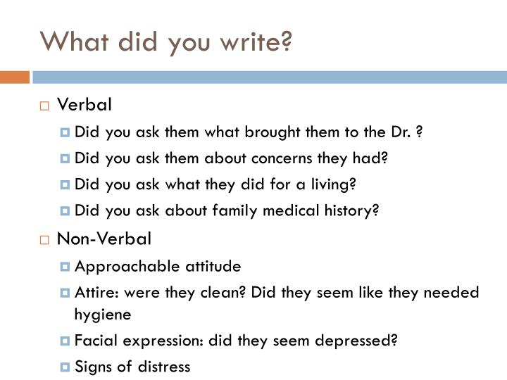 What did you write?