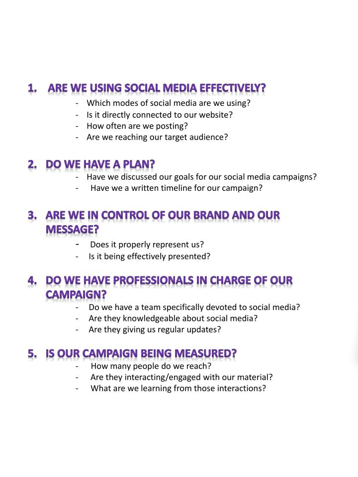 Social media 1 0 questions non profits should ask