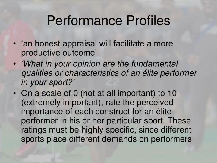 Performance Profiles