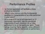 performance profiles