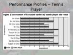 performance profiles tennis player