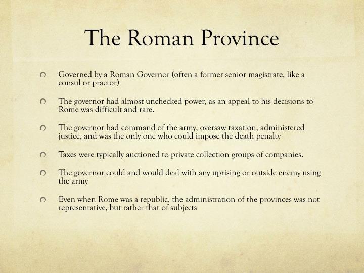 The Roman Province